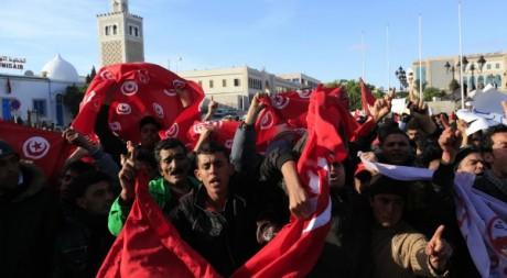 Manifestation à Tunis en janvier 2011 © Zohra Bensemra/REUTERS