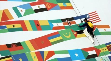 Préparatifs du sommet France Afrique, Cannes, 14 férvier 2007. AFP PHOTO/VALERY HACHE