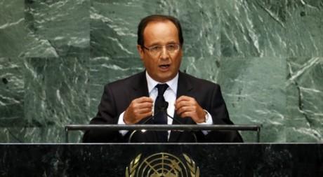 François Hollande au siège de l'ONU à New York, 25 septembre 2012. ©REUTERS/Mike Segar