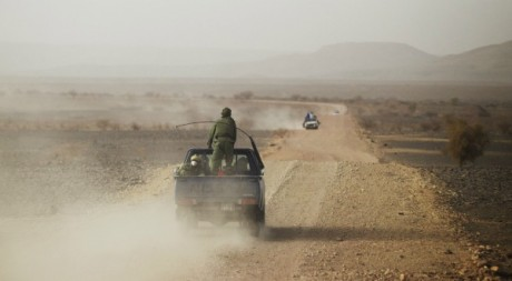 Patrouille à la frontière mauritano-malienne, mai 2012. © REUTERS/Joe Penney