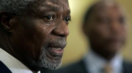 Conférence de presse de Kofi Annan à Nairobi le 17 octobre 2008, Kenya. Antony Njuguna/Reuters