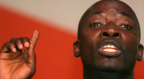 Charles Blé Goudé, janvier 2006, Abidjan. © REUTERS/Thierry Gouegnon