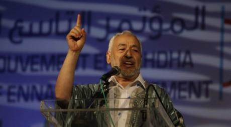 Rached Ghannouchi lors de sa réélection à la tête d'Ennahda, 16 juillet 2012, Tunis. REUTERS/Zoubeir Souissi