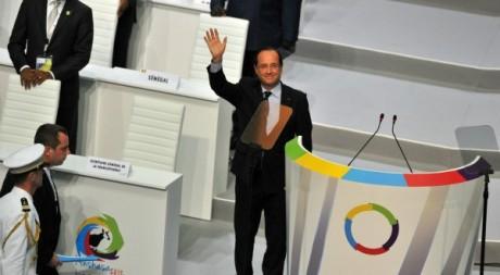 François Hollande, le 13 octobre au sommet de la Francophonie. AFP PHOTO/ Issouf Sanogo