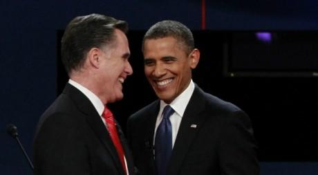 Les candidats à la Maison Blanche, Romney et Obama, après leur premier débat, 4 octobre 2012. ©REUTERS/Jason Reed