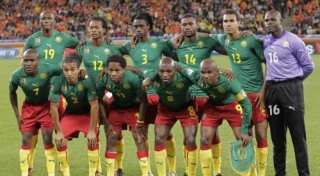 Les Lions indomptables du Cameroun lors du Mondial 2010 en Afrique du Sud. © REUTERS/Michael Kooren