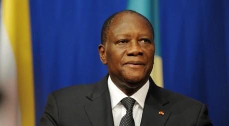 Le président ivoirien Alassane Ouattara, le 5 octobre 2012, AFP PHOTO Eric Piermont