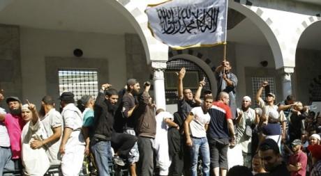 Manifestation de salafistes à Tunis, septembre 2012. © REUTERS/Zoubeir Souissi