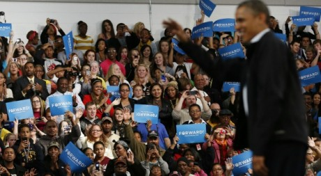 Un meeting de Barack Obama dans l'Ohio, 2 novembre 2012. © REUTERS/Larry Downing