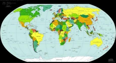 Carte du monde via Flickr par Martyn Wright