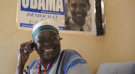 Mama Sarah Obama, la grand-mère kényane de Barack Obama. SIMON MAINA / AFP