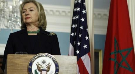 Visite de la Secrétaire d'Etat Hillary Clinton au Maroc le 23 mars 2011. Reuters/Jim Young