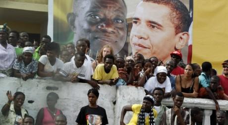 Visite de Barack Obama au Ghana le 11 juillet 2009. Reuters/Jason Reed