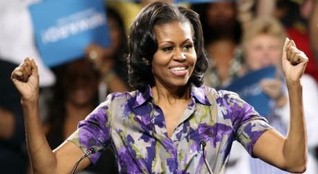 Michelle Obama lors d'un discours à Miami (Floride), 1er novembre 2012.  © REUTERS/Bob Sullivan