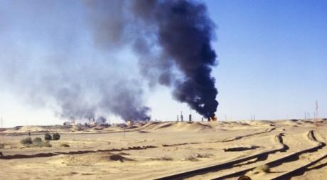 Puits de pétrole à Hassi Messaoud. AFP