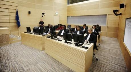 Séance de la Cour Pénale Internationale de La Haye, 10 juillet 2012. Reuters/POOL News