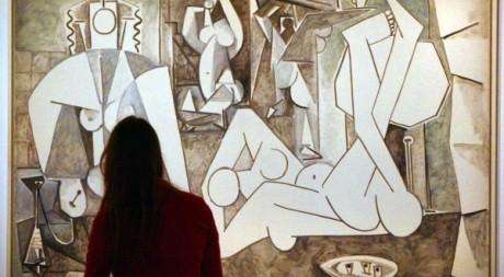 """Huile sur toile """"Femmes d'Alger d'après Delacroix"""" de Pablo Picasso, le 19 septembre. AFP/MEHDI FEDOUACH"""