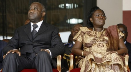 Simone Gbagbo avec Laurent Gbagbo le 1er avril 2009. REUTERS.