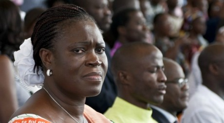 Simone Gbagbo à Abidjan, le 27 mars 2011. AFP/JEAN-PHILIPPE KSIAZEK