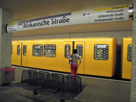 Une station de métro dans le quartier de Wedding, à Berlin. ©Cécile Leclerc