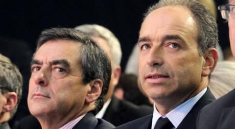 Jean-François Copé et François Fillon, lors d'une réunion de l'UMP, septembre 2012. © DENIS CHARLET/AFP