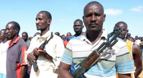 Miliciens dans la ville de Mopti, au centre du Mali, le 20 août 2012. AFP