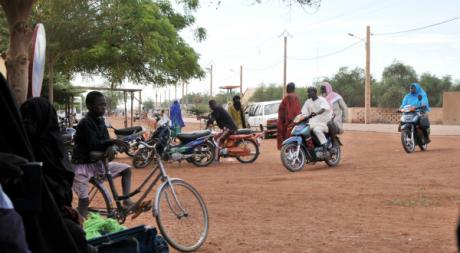 Une rue de Gao, Nord-Mali, septembre 2012. © ISSOUF SANOGO / AFP