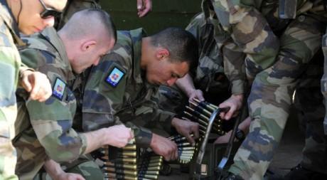 Des soldats de l'opération française Serval au Mali, 16 janvier 2013. © ISSOUF SANOGO / AFP