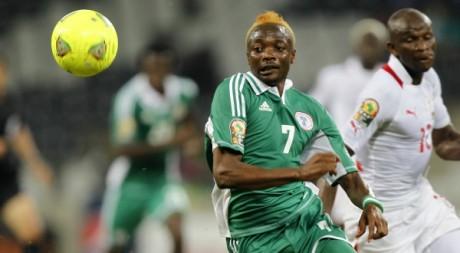 Le joueur du Nigeria Ahmed Musa lors du match contre le Burkina Faso, 21 janvier 2013, Nelspruit. REUTERS/Thomas Mukoya