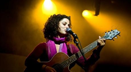 Emel Mathlouthi en concert à la Bastille. DR