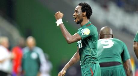 Jonathan Pitroipa célèbre son but face au Togo en quart de finale, le 3 février 2013. REUTERS/Thomas Mukoya