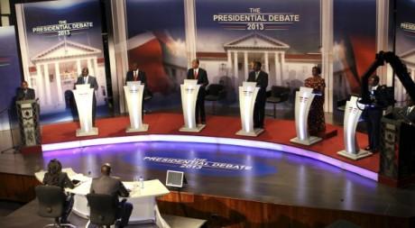 Le débat présidentiel du 11 février 2013.REUTERS/Stringer