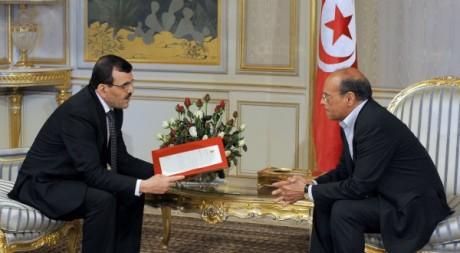 Ali Larayedh et le président Marzouki, Tunis, 8 mars 2013. © Fethi Belaid/ AFP