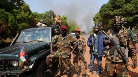 Les rebelles du Séléka, Damara, janvier 2013. © SIA KAMBOU / AFP