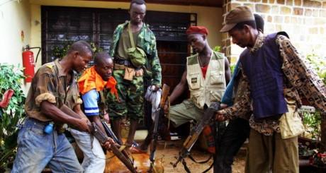 Les soldats de François Bozizé, le 21 mars 2003. AFP/DESIREY MINKOH