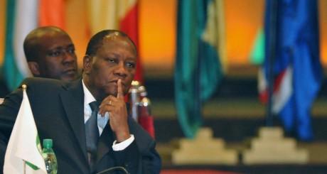 Alassane Ouattara, Abidjan, janvier 2013 / AFP