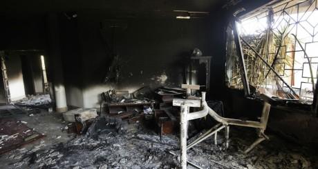 L'intérieur du consulat américain à Benghazi, après l'attaque du 11 septembre 2012 / AFP