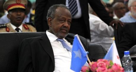 Le président djiboutien Ismail Omar Guelleh à Mogadiscio le 16 septembre 2012.REUTERS/Omar Faruk