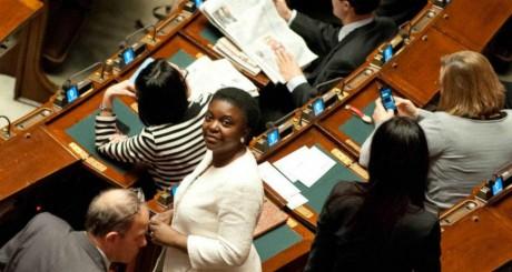 Kyenge Kashetu, la nouvelle ministre de l'Intégration en Italie, mars 2013, photo extraite de sa page Facebook