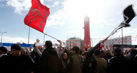 Manifestation de salafistes, Tunis, janvier 2013 / REUTERS