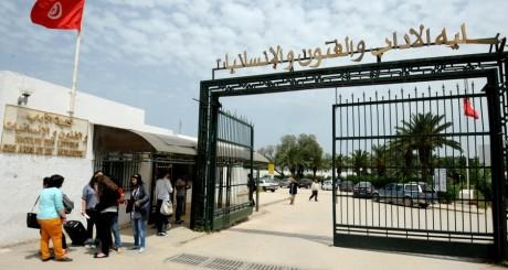 L'entrée de La Manouba, Tunis, 2 mai 2013 / AFP