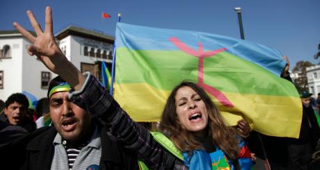 Manifestation de Berbères, Rabat, janvier 2012 / REUTERS
