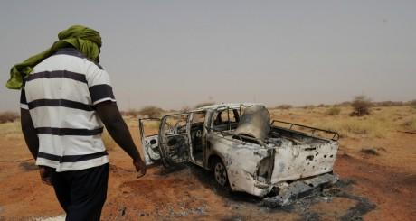Un véhicule du Mujao détruit à Gao par les soldats français, janvier 2013 / AFP