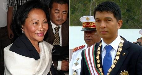 Lalao Ravalomanana et Andry Rajoeilina, deux des trois candidats contestés à Madagascar / AFP