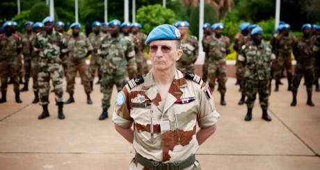 Régiment de casques bleus, Bamako, 1er juillet 2013 / REUTERS