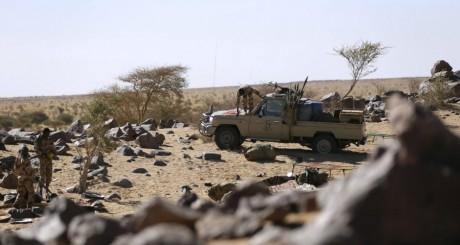 Soldats tchadiens dans la ville de Tessalit, mars 2013 / AFP