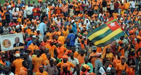 """Meeting de campagne du Collectif de l'ooposition Sauvons le Togo, 2"""" juillet 2013 / AFP"""
