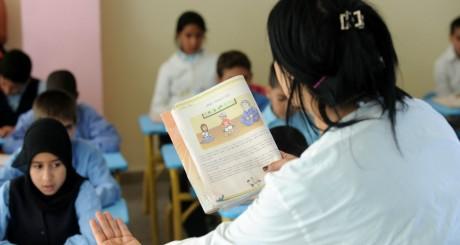 Leçon de berbère dans une école de Rabat, Maroc, septembre 2010 / AFP