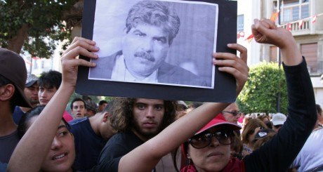 Manifestations à Tunis, après l'assassinat de Mohamed Brahmi, 25 juillet 2013 / AFP
