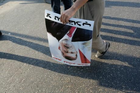 Partisan du président déchu Mohamed Morsi, le 18 août, au Caire. REUTERS/Youssef Boudlal